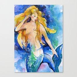 Celeste Mermaid by Kathy Morton Stanion Canvas Print