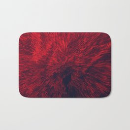 Bold Burst in Brilliant Red Bath Mat