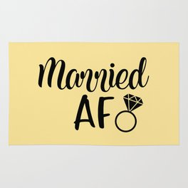 Married AF - Light Yellow Rug