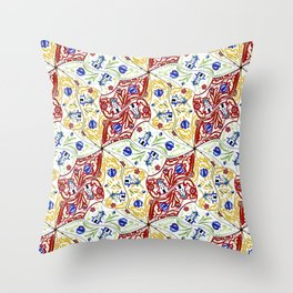 Wooden Shoes Tessellation Throw Pillow