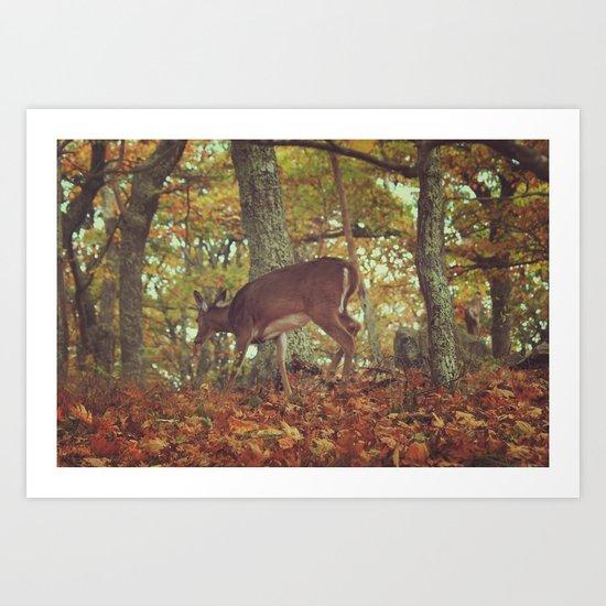 Chasing Deer Art Print