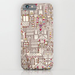 gingerbread town iPhone Case