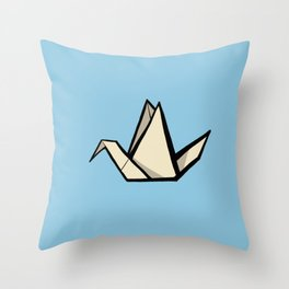 The Art of Origami - Origami Crane Throw Pillow