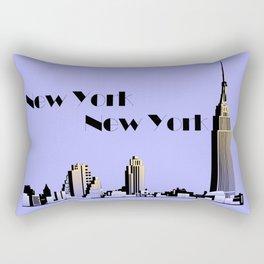 New York New York skyline retro 1930s style Rectangular Pillow