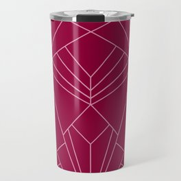 Art Deco in Raspberry Pink - Large Scale Travel Mug