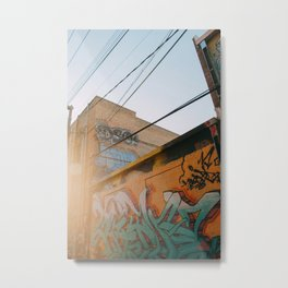 Graffiti Alley Metal Print