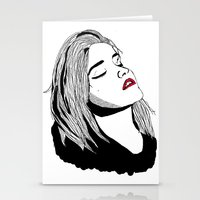 sky ferreira Stationery Cards featuring Sky Ferreira by BUGS