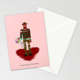 A Love Story on Elm Street Stationery Cards