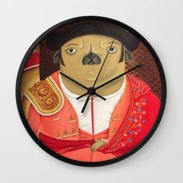 Matador Pug Wall Clock