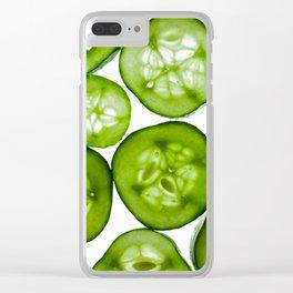 Fresh Yummy Cucumbers Clear iPhone Case