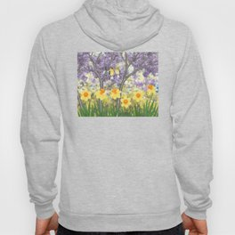 goldfinches, lilacs, & daffodils Hoody