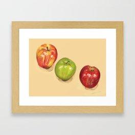 crispy apples Framed Art Print