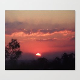 Sweet Pink Orange Sunset Canvas Print