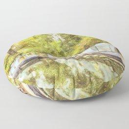 Little Venice London Autumn Art Floor Pillow