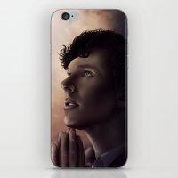 sherlock holmes iPhone & iPod Skins featuring Sherlock Holmes by GeminiBrain