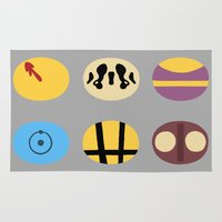 watchmen Area & Throw Rugs featuring Less is Moore by Chayground