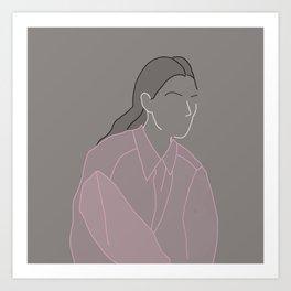 Pink Shirt Art Print