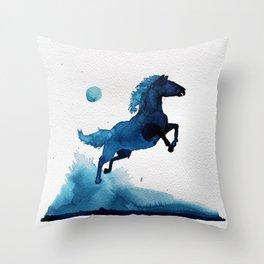 Equus ferus caballus Throw Pillow