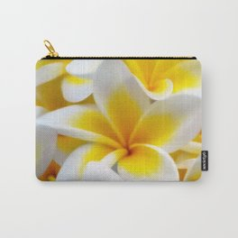 Frangipani halo of flowers Carry-All Pouch