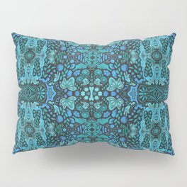 Indian Summer, Bohemian Ethnic Pattern, Turquoise Pillow Sham