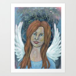 Angel Girl Art Print