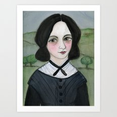 Emily Bronte and her Wuthering Heights Art Print