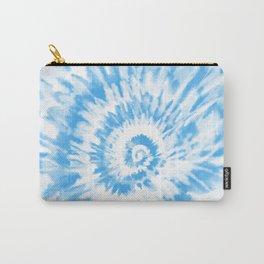 Light Ocean Blue Tie Dye Carry-All Pouch