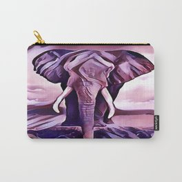 Elephant Drinking Water Carry-All Pouch