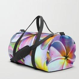 Rainbow Plumeria Duffle Bag
