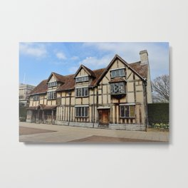 William Shakespeare's Birthplace Metal Print
