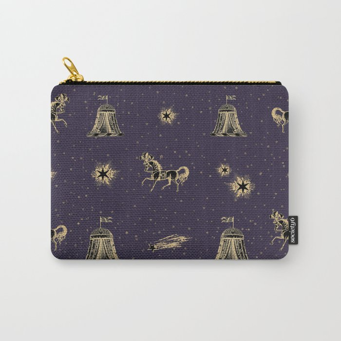 Magic Land Circus - Blue and Gold Carry-All Pouch