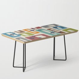 Retro Mid Century Modern Abstract Pattern 224 Coffee Table