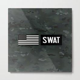 SWAT: Black Camouflage Metal Print