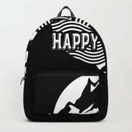 Happy Camper Nature Camping Travel Backpack