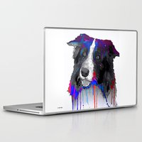 border collie Laptop & iPad Skins featuring Border Collie by Marlene Watson
