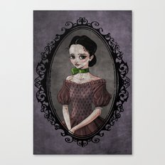 Girl with the Green Ribbon Canvas Print