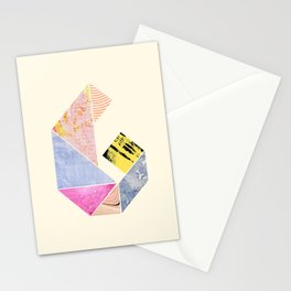 Collaged Tangram Alphabet - G Stationery Cards