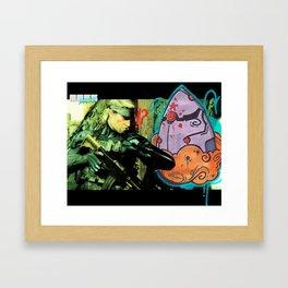 """Snaaaake !"" Framed Art Print"