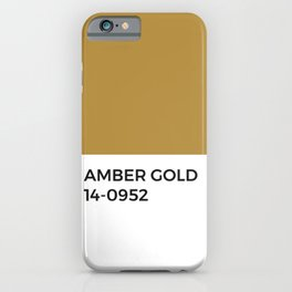 Amber Gold Pantone Chip • Ochre • Fall • Jewel Tone • Warmth • Minimal Design • Typography • Graphic iPhone Case