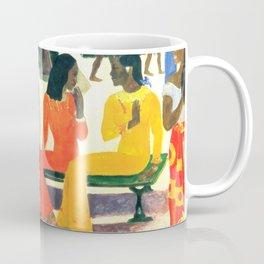 """Paul Gauguin """"Ta Matete (Nous n'irons pas au marché aujourd'hui)(The market)"""" Coffee Mug"""