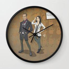 Sherlock and Joan Wall Clock