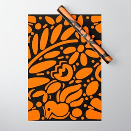 Beautiful Orange Otomi Wrapping Paper