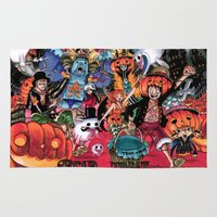 luffy Area & Throw Rugs featuring Halloween in One Piece by Borsalino