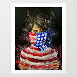 Choked by our freedom Art Print