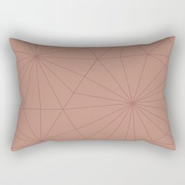 Tan Shattered Design Rectangular Pillow