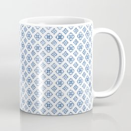 Muted royal blue delicate boho pattern. Coffee Mug