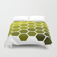 honeycomb Duvet Covers featuring Honeycomb by Taylor Steiner