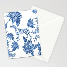 BLUE BATIK WEIMS Stationery Cards
