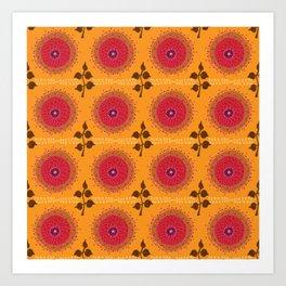 Ma Boheme La Floraison - Floral Bohemian Pattern Art Print