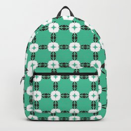 Retro Green Square Backpack